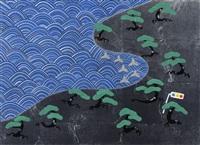 seaside pinetrees by taro yamamoto