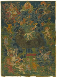 a thangka of a worldly protector by anonymous-tibetan (18)
