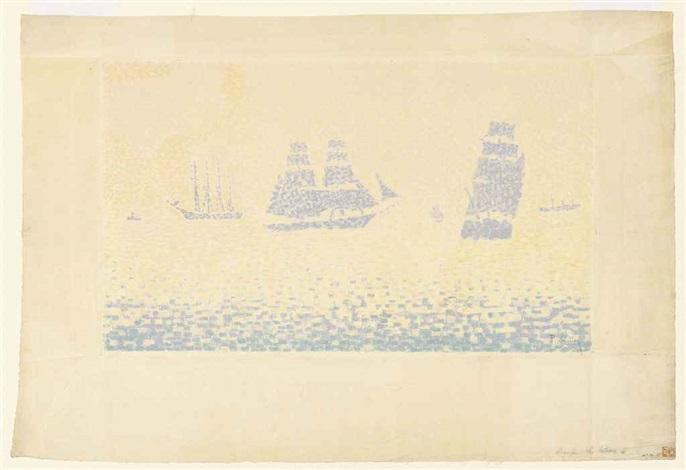 les bateaux by paul signac