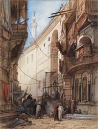 rue de la mosquée du sultan au caire by albrecht michael jacob jacobs