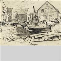 fishing village by arthur lismer