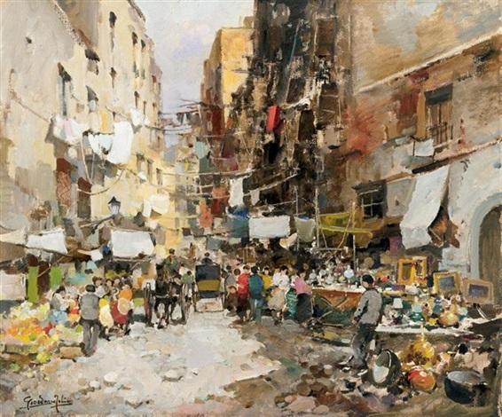 Napoli Per Le Vie Del Mercato By Felice Giordano