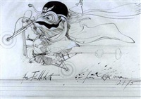 the motorcyclist by ralph idris steadman