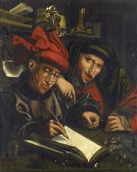 le receveur et son assistant by marinus van reymerswaele