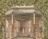 projet de kiosque à musique autour du buste d'andré gretry by pierre françois léonard fontaine