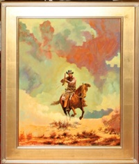 cowboy riding horse by cecil alden smith