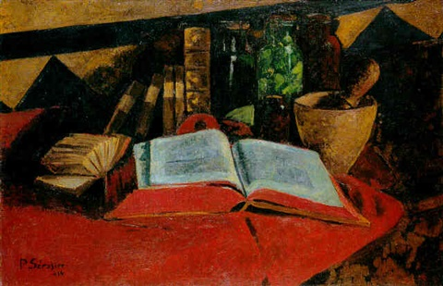 Nature Morte Au Livre Ouvert Et Au Mortier By Paul Serusier