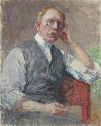 portrait of a man by gari melchers
