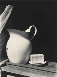 pitcher and soap by consuelo kanaga
