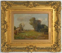 landscape with farm buildings by maurice braun