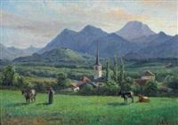 greyerzer landschaft by jean-joseph reichlen
