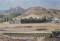 greek theater at isthamea by maurice grosser