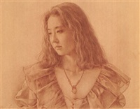 portrait of a woman in sepia by sosuke morimoto