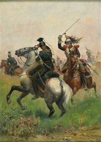scène de bataille by j. bunneber