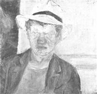 portrait of a young man by guerta nemenowa