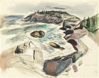 islands-maine by fairfield porter