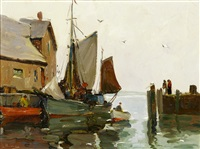 in the morning, rockport wharf by anthony thieme