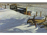 wagon in drifts #2 by herbert otto sellin