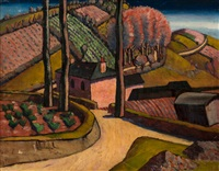 landscape at newlyn by frank dobson