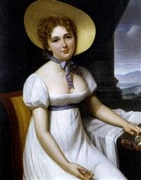 portrait of mlle. dulavier by francois henri mulard
