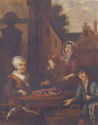 fishwives gutting fish by adriaen verdoel