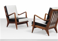 armchairs, model n. 516 (pair) by gio ponti