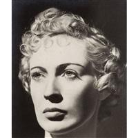 portrait de femme au visage sculptural, paris by dora maar