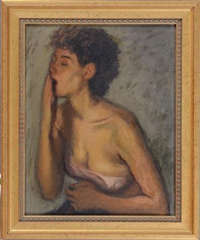 yawning girl by raphael soyer