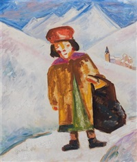 enfant dans la neige by georges gimel