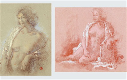 nude (2 works) by lee man fong