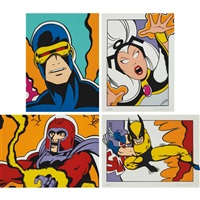 wolverine, (ii) magneto, (iii) storm, (iv) cyclops (set of 4) by crash