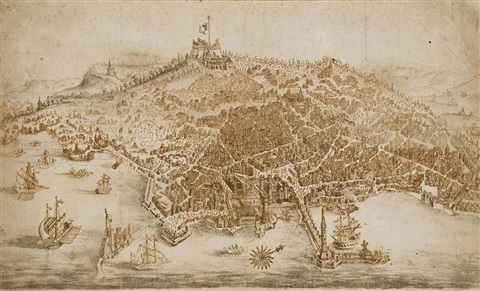 vue de naples by francesco zucco