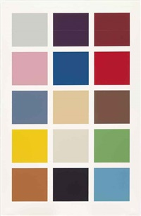 fünfzehn farben (fifteen colours) by gerhard richter