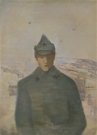 red army soldier in the far east by alexandre arkadevich labas