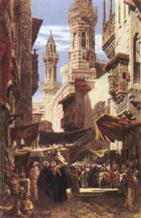 rue animée au caire by axel herman haig