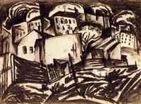 houses in the suburb by béla kádár