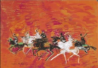 cavaliers au galop by hassan el glaoui