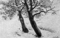 kastanien im schnee by friedrich beck