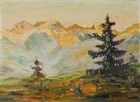 paesaggio montano by giuseppe muner