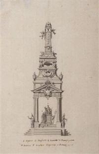catafalque érigé en l'honneur de l'empereur françois ier (sketch) by mauro antonio (maurino) tesi