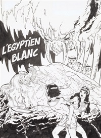 papyrus - l'égyptien blanc (for cover) by lucien de gieter