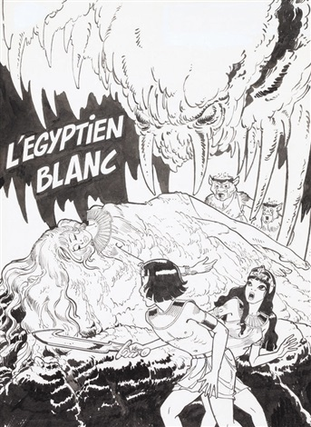 papyrus légyptien blanc for cover by lucien de gieter