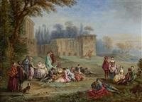 blind man's bluff (+ fête champêtre; pair) by alexandre paul joseph veron