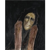untitiled (portrait of a woman) by rabindranath tagore
