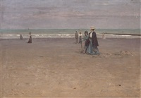 a stroll on the beach by josef jelinek