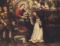 santa teresa y el nino jesus by juan de correa da vivar