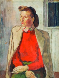 mujer sentada by héctor basaldúa