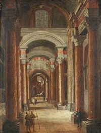 a church interior by pietro francesco garoli