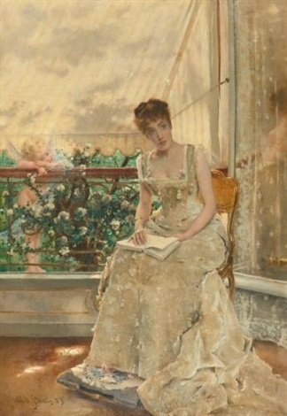 la femme et lamour lamour qui vient by alfred stevens