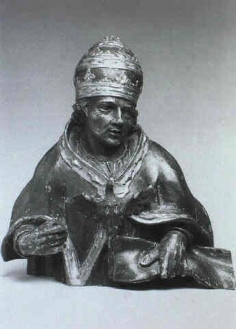 büste papst gregors des grossen by hans morinck